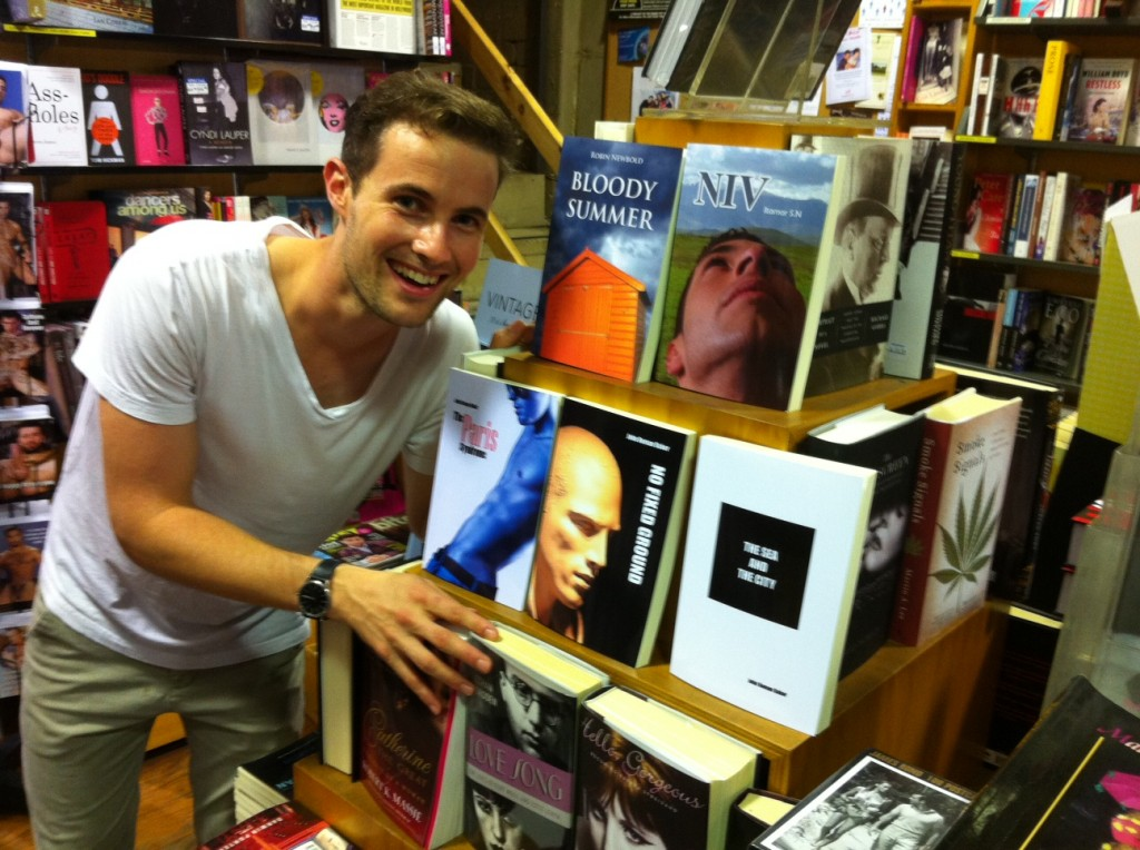 Ben fancies a good read - gay books from Wilkinson House at the Bookshop Darlinghurst, Sydney, Australia
